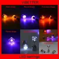 man and woman lighting earring flashing led party ear stud