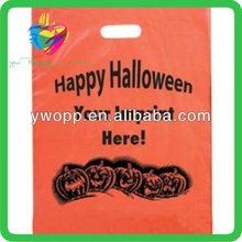 Yiwu halloween printed die cut plastic bag
