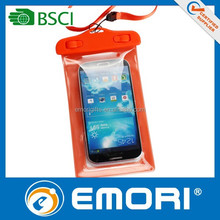2015 hot selling good quality cell phone sealed waterproof bag for smartphone