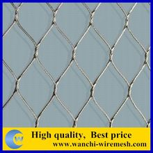 Durable stainless steel woven rope ferruled mesh fence