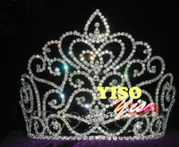 custom crystal beauty queen big pageant crowns for sale