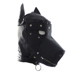 Bare mouth&eye red glue hood/fetish mask/adult sex toys product