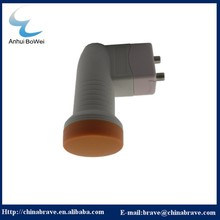 different colour KU band lnbf twin with gain output from china manufacture