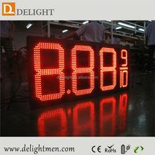 led digital clock red display/ outdoor 4 digits gas price led signs/ led fuel /diesel price display