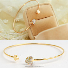 Ladies Girls Chic Lovely 24k Goldlatest design girls gold bangles Sweet Heart Bracelet Bangle