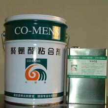 Solvent based flexible laminating polyurethane glue