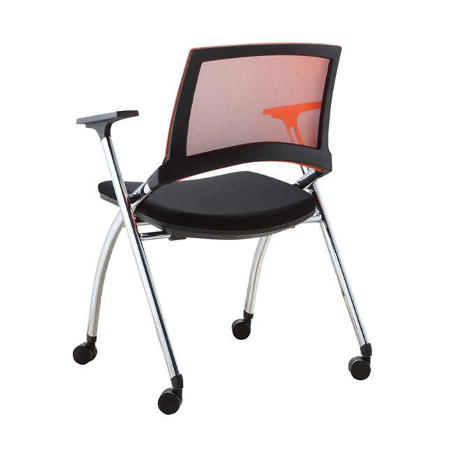 cushion folding office chair with wheels buy folding office chair