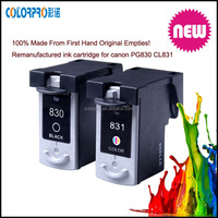 PG 830 CL831 remanufactured ink cartridges for CANON PIXMA IP1180,1880,1980,2580,2680