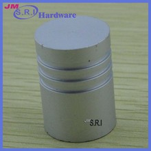 Cylinder shape aluminum mini furniture drawer knobs