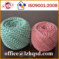2 color twisted cotton rope ,colored decorative cotton rope