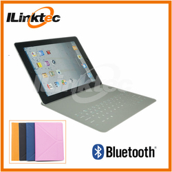 Ultra-thin wireless bluetooth keyboard leather case for ipad