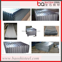 Cost effective corrugated roof flashing in sheet made of galvanised steel coils from China