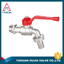 brass ball bibcock tap forged and polishing sand blasting control valve with nickel-plated for weter DN 20 in TMOK