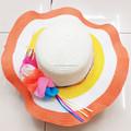 2015 nuevo diseño moda sombrero de paja, floppy ala ancha sombrero de paja ( HT-1504020022 )