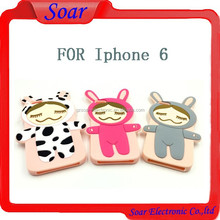 3D Cute Cartoon Soft Silicone Back Cover Cell Phone Case For Iphone 6