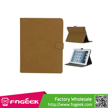 Fast Shipping Vintage Smooth Matte Leather Stand Case for iPad 2 3 4