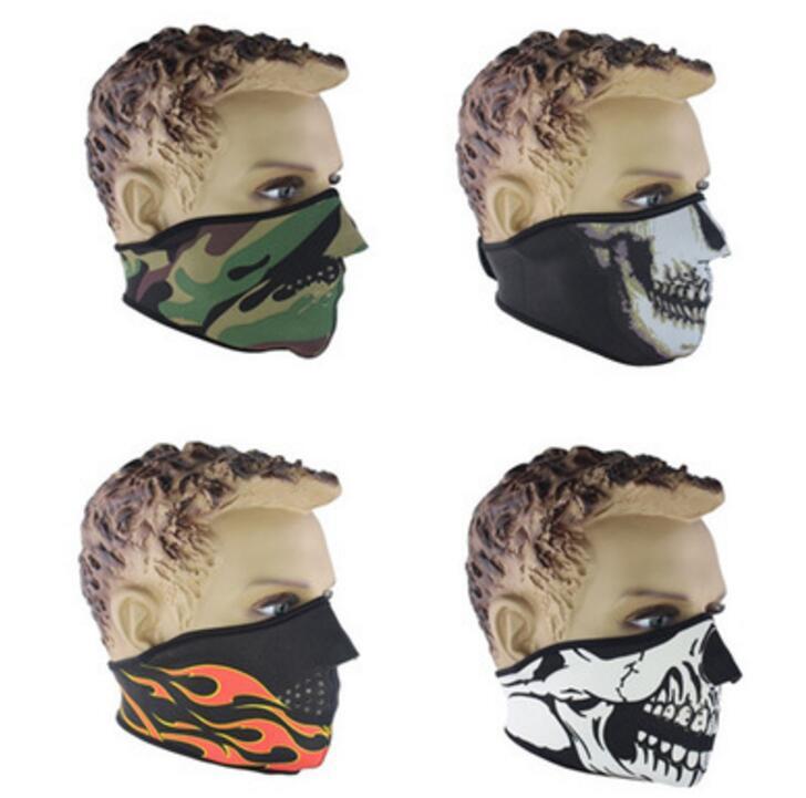 Ayarlanabilir Festivali Kafatası İskeleti Açık Motosiklet Bisiklet Çok Fonksiyonlu Eşarp Yarım Yüz Maskesi