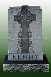 Supply Favorable Price Grey Granite Tombstone with Cross