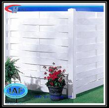 Indoor white wood plastic composite garden fence