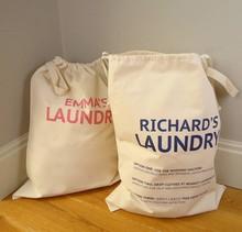 Cotton Laundry Bag, Drawstring Laundry Bag, Laundry Bag