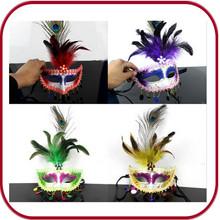Custom Designed Carnival Feather Venetian Masks Party Mask PGAC-0663