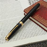 BAOER 388 Marble Dark Blue Golden Stainless Steel Fountain Pen Classic Trim Nib