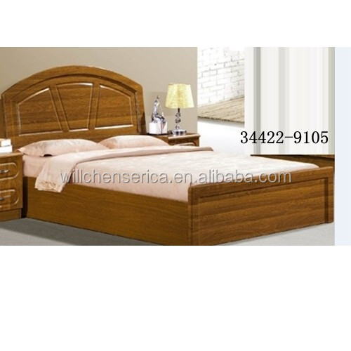 2015 new design 34422 9105 wooden mdf golden double bed for Bed design photos