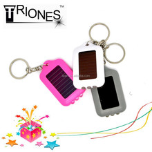(160010) High power solar rechargeable mini led flashlight with keychain