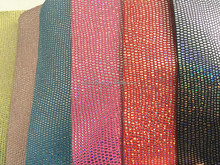 PU film leather metallic embossing snake skin synthetic leather