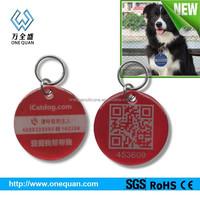 2015 epoxy coated pet id tags engraved qr code metal pet id collar tag metal qr code laser de gravura tag