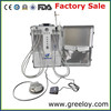 Portable dental cleaning unit work with portable dental compressor unit and portable dental suction unit