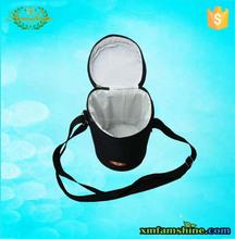 customized reusable polyester 1.5l bottle wine cooler bag