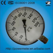 100mm large diameter plastic galss window pressure gauge manometer/plastic case/bottom connection/CE