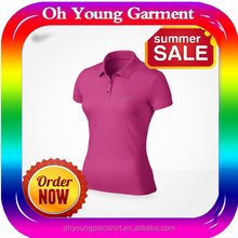 2015 dry fit mens 100% poly sports wear dry fit polo shirt for women
