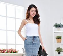 Fashionable Slim Micro Short Skirt Women Jeans Lt Blue 100%Cotton) Middle Waisted Skirt Jeans 808