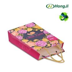 Personalized OEM Logo Hot Stamping PP Rope Handle Art Paper Bag