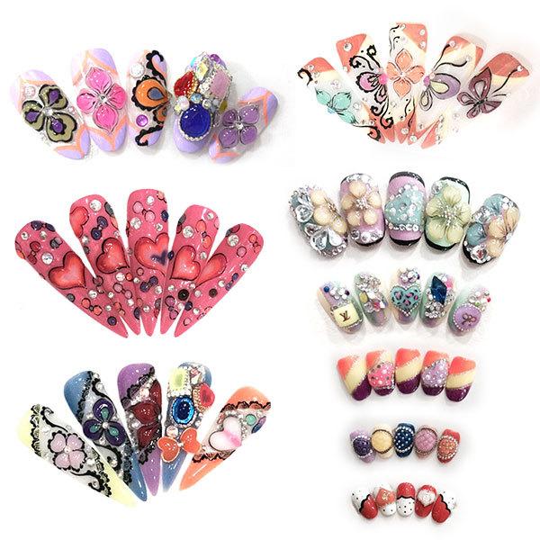 40267w 3d Nail Art Designs Thick Make Up Gem Crystal Nails Uv Gel