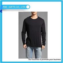 fashion men high quality long line t-shirt printing Wholesale slim fit t shirt