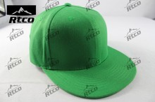Top quality Green sports promotional logo hip-pop hats (plate 6-panel cap)
