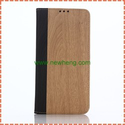 luxury new arrival wood grain pu leather Case with card slot For Samsung Note5