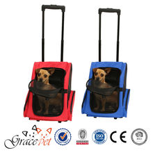 highly sturdy design waterproof carrier dog backpack with versatile wheeled