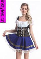 China wholesale walson German Bavarian Oktoberfest Ladies Beer Maid Fancy Dress Costume Lederhosen