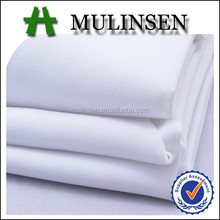 Mulinsen textile wool peach dyed white color,100 polyester abaya fabric material