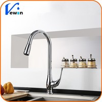 New Style Deck Mounted Retractable Pull Out Kitchen Sink Mixer Faucet