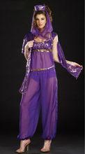 seductora bailarín indio de color púrpura de la mujer de prendas de vestir traje de halloween