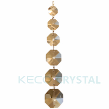 Octagon Bead Chain with Brass Wire, keco crystal is work on all kinds of Chandelier Crystals, and produce Customized chain