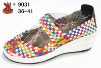 latest fashion handmade lady weave shoes lady high heel shoes