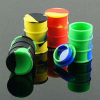 Medical container 32mm/35mm/55mm silicone weed jar wax/oil containers cheap price silicone jar for wax