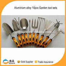 2015 Aluminium Alloy 10pcs Ladies Garden Tools