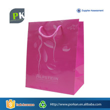 New Products Lovely Shopping Pink Paper Bag With Different Handle Types